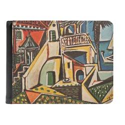 Mediterranean Landscape by Pablo Picasso Genuine Leather Men's Bi-fold Wallet
