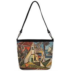 Mediterranean Landscape by Pablo Picasso Bucket Bag w/ Genuine Leather Trim