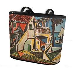 Mediterranean Landscape by Pablo Picasso Bucket Tote w/ Genuine Leather Trim