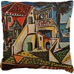 Mediterranean Landscape by Pablo Picasso Faux-Linen Throw Pillow