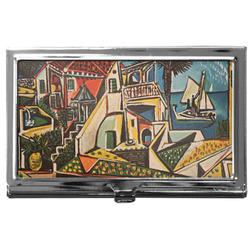 Mediterranean Landscape by Pablo Picasso Business Card Holder