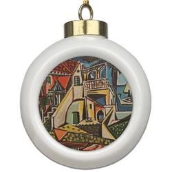 Mediterranean Landscape by Pablo Picasso Ceramic Ball Ornament