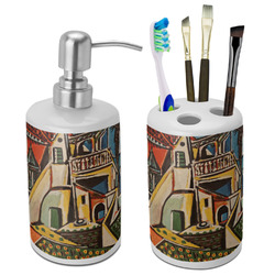Mediterranean Landscape by Pablo Picasso Bathroom Accessories Set (Ceramic)