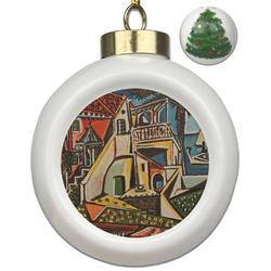 Mediterranean Landscape by Pablo Picasso Ceramic Ball Ornament - Christmas Tree