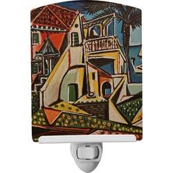 Mediterranean Landscape by Pablo Picasso Ceramic Night Light