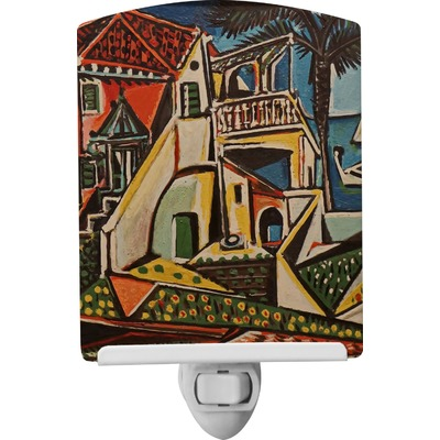Mediterranean Landscape by Pablo Picasso Ceramic Night Light