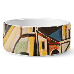 Mediterranean Landscape by Pablo Picasso Ceramic Dog Bowl