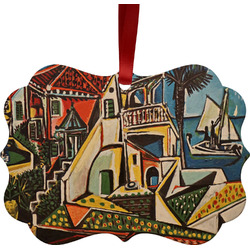 Mediterranean Landscape by Pablo Picasso Metal Frame Ornament - Double Sided