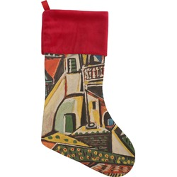 Mediterranean Landscape by Pablo Picasso Christmas Stocking