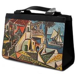 Mediterranean Landscape by Pablo Picasso Classic Tote Purse w//Leather Trim Front