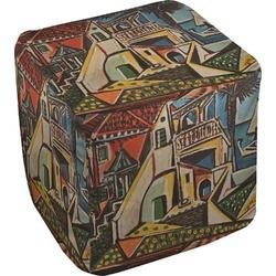 "Mediterranean Landscape by Pablo Picasso Cube Pouf Ottoman - 18"""