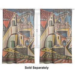 "Mediterranean Landscape by Pablo Picasso Curtains - 20""x54"" Panels - Lined (2 Panels Per Set)"