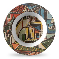Mediterranean Landscape by Pablo Picasso Plastic Bowl - Microwave Safe - Composite Polymer