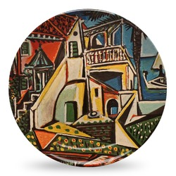 Mediterranean Landscape by Pablo Picasso Microwave Safe Plastic Plate - Composite Polymer