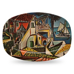 Mediterranean Landscape by Pablo Picasso Plastic Platter - Microwave & Oven Safe Composite Polymer