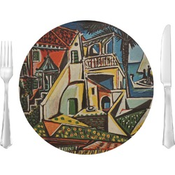 """Mediterranean Landscape by Pablo Picasso 10"""" Glass Lunch / Dinner Plates - Single or Set"""