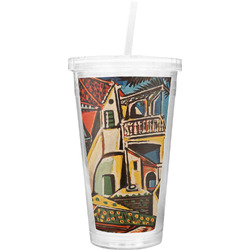 Mediterranean Landscape by Pablo Picasso Double Wall Tumbler with Straw