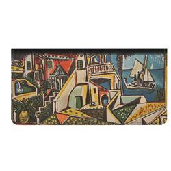 Mediterranean Landscape by Pablo Picasso Genuine Leather Checkbook Cover