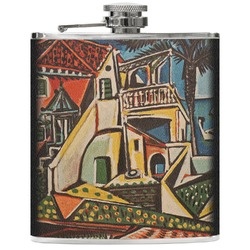 Mediterranean Landscape by Pablo Picasso Genuine Leather Flask
