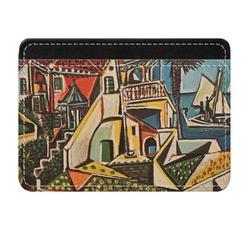 Mediterranean Landscape by Pablo Picasso Genuine Leather Front Pocket Wallet