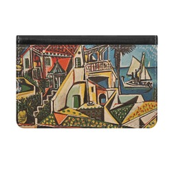 Mediterranean Landscape by Pablo Picasso Genuine Leather ID & Card Wallet - Slim Style