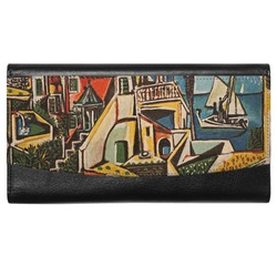 Mediterranean Landscape by Pablo Picasso Genuine Leather Ladies Wallet