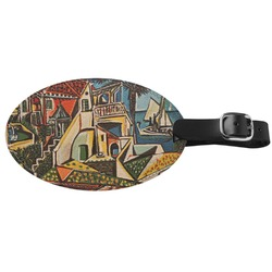 Mediterranean Landscape by Pablo Picasso Genuine Leather Luggage Tag