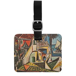 Mediterranean Landscape by Pablo Picasso Genuine Leather Rectangular  Luggage Tag