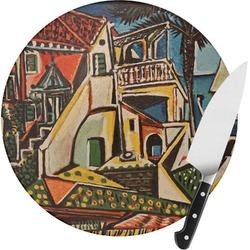 Mediterranean Landscape by Pablo Picasso Round Glass Cutting Board