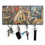 Mediterranean Landscape by Pablo Picasso Key Hanger w/ 4 Hooks