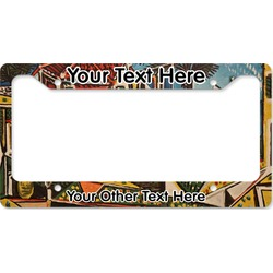 Mediterranean Landscape by Pablo Picasso License Plate Frame