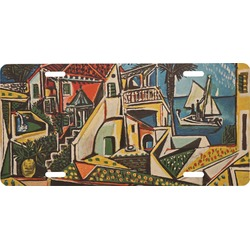 Mediterranean Landscape by Pablo Picasso Front License Plate
