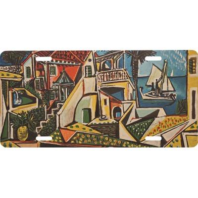 Mediterranean Landscape by Pablo Picasso Front License Plate