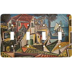 Mediterranean Landscape by Pablo Picasso Light Switch Cover (4 Toggle Plate)