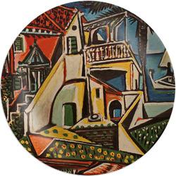 "Mediterranean Landscape by Pablo Picasso Melamine Plate - 8"""