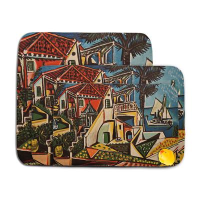 Mediterranean Landscape by Pablo Picasso Memory Foam Bath Mat