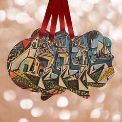 Mediterranean Landscape by Pablo Picasso Metal Ornaments - Double Sided