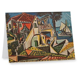 Mediterranean Landscape by Pablo Picasso Notecards
