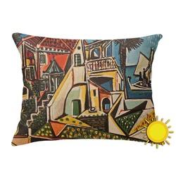 Mediterranean Landscape by Pablo Picasso Outdoor Throw Pillow (Rectangular)