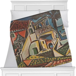 """Mediterranean Landscape by Pablo Picasso Fleece Blanket - Queen / King - 90""""x90"""" - Double Sided"""