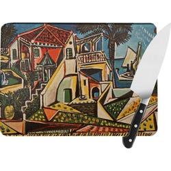 Mediterranean Landscape by Pablo Picasso Rectangular Glass Cutting Board