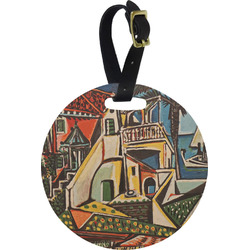 Mediterranean Landscape by Pablo Picasso Round Luggage Tag