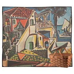 Mediterranean Landscape by Pablo Picasso Outdoor Picnic Blanket