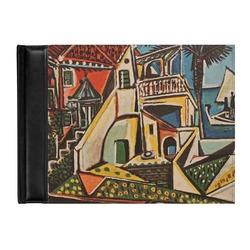 Mediterranean Landscape by Pablo Picasso Genuine Leather Guest Book