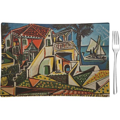Mediterranean Landscape by Pablo Picasso Rectangular Glass Appetizer / Dessert Plate - Single or Set