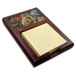 Mediterranean Landscape by Pablo Picasso Red Mahogany Sticky Note Holder