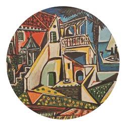 Mediterranean Landscape by Pablo Picasso Round Decal - Medium