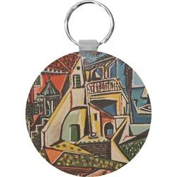 Mediterranean Landscape by Pablo Picasso Round Keychain