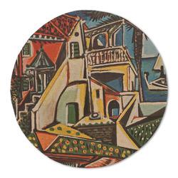 Mediterranean Landscape by Pablo Picasso Round Linen Placemat