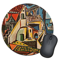 Mediterranean Landscape by Pablo Picasso Round Mouse Pad